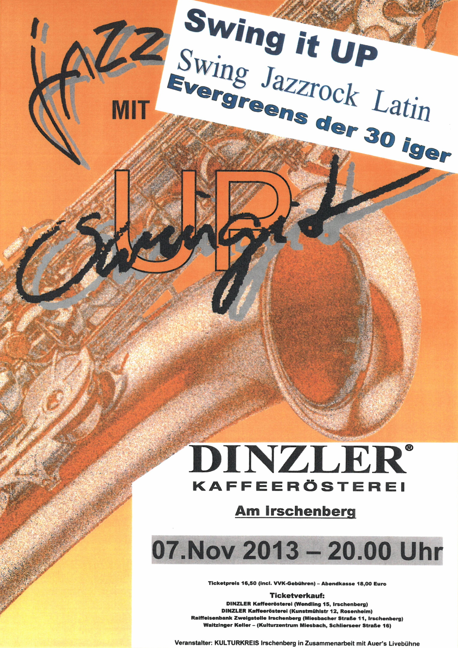 Jazzkonzert von Swing it UP im Dinzler